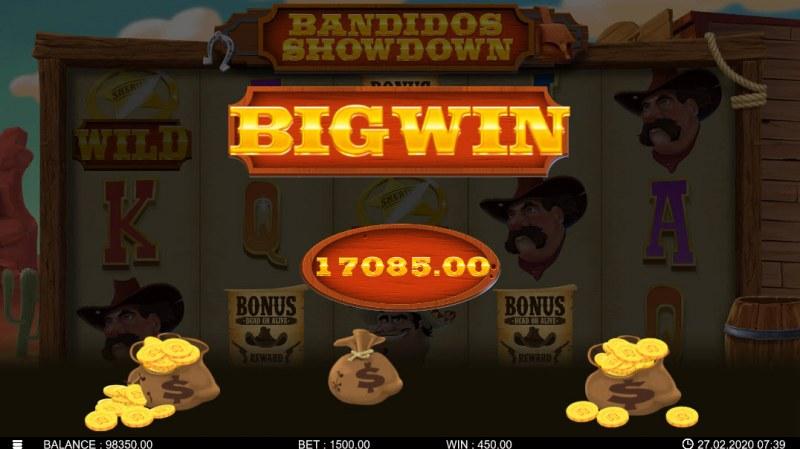Bandidos Showdown :: Total bonus payout