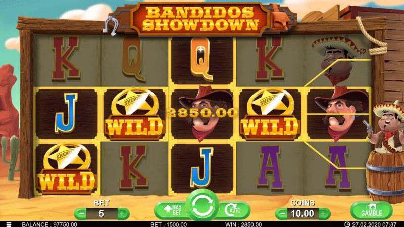 Bandidos Showdown :: Multiple winning paylines