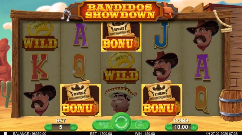 Bandidos Showdown :: Scatter symbols triggers bonus feature