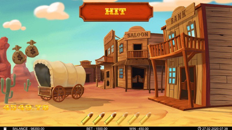 Bandidos Showdown :: Game play ends once all of your bullets have been used