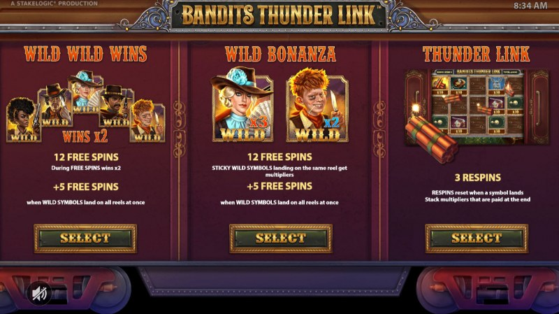 Bandits Thunder Link :: Choose your free games