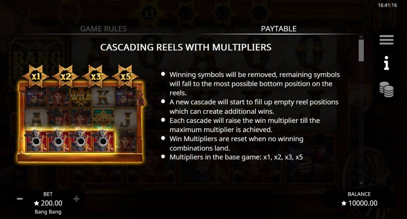 Bang Bang :: Cascading Reels with Multipliers