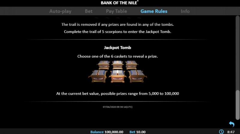 Bank of the Nile :: Jackpot Tomb