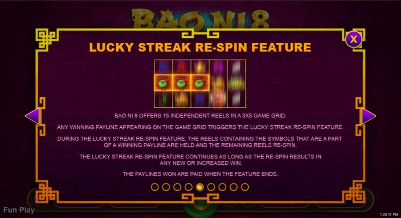 Bao Ni 8 :: Lucky Streak Re-Spin Feature