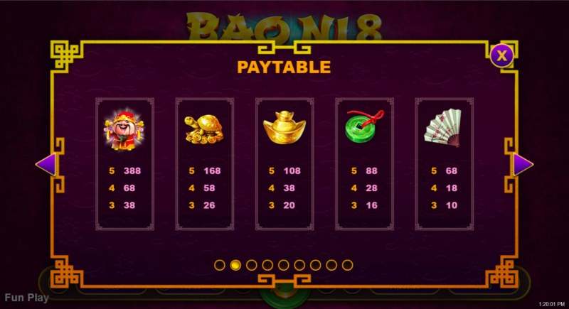 Bao Ni 8 :: Paytable - High Value Symbols