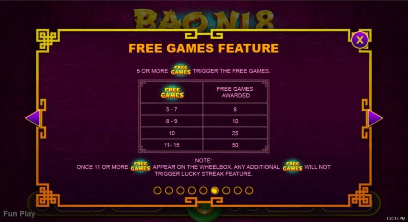 Bao Ni 8 :: Free Games Feature