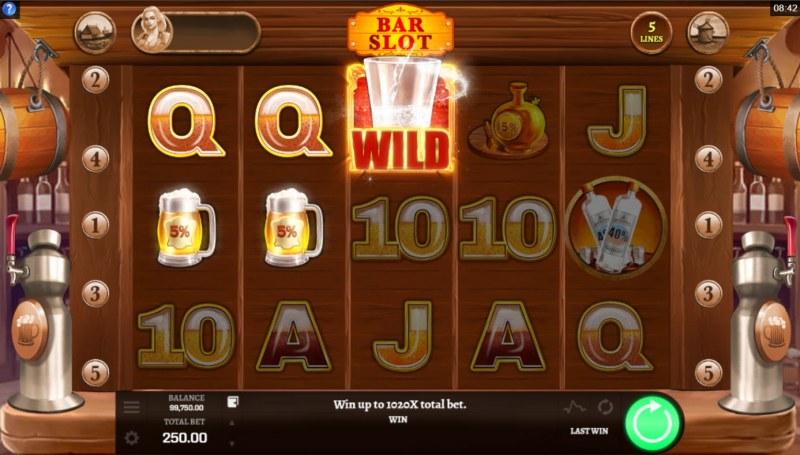 Bar Slot :: A three of a kind win