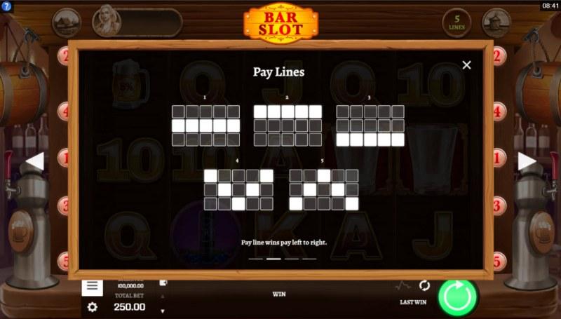 Bar Slot :: Paylines 1-5