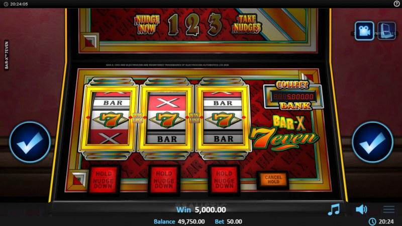 Bar-X 7even :: A three of a kind win