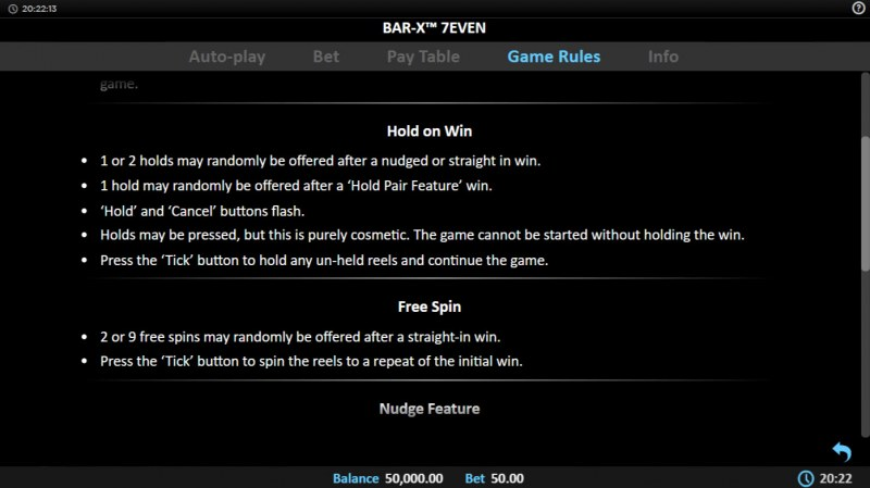 Bar-X 7even :: Hold On Win