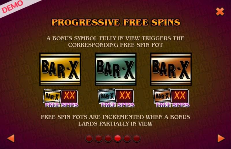 BAR X Colossal :: Progressive Free Spins