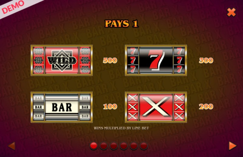 BAR X Colossal :: Paytable - High Value Symbols