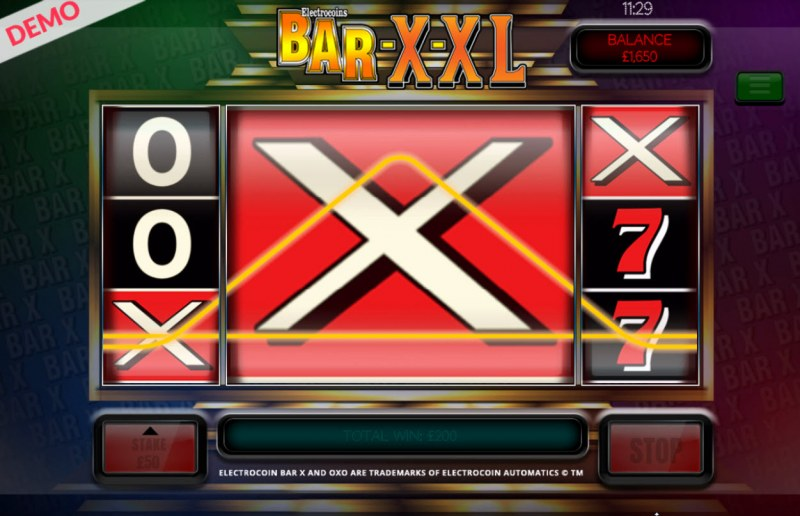 BAR-X-XL :: Multiple winning combinations leads to a big win