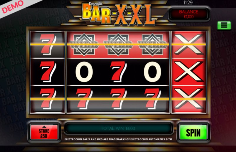 BAR-X-XL :: Multiple winning paylines