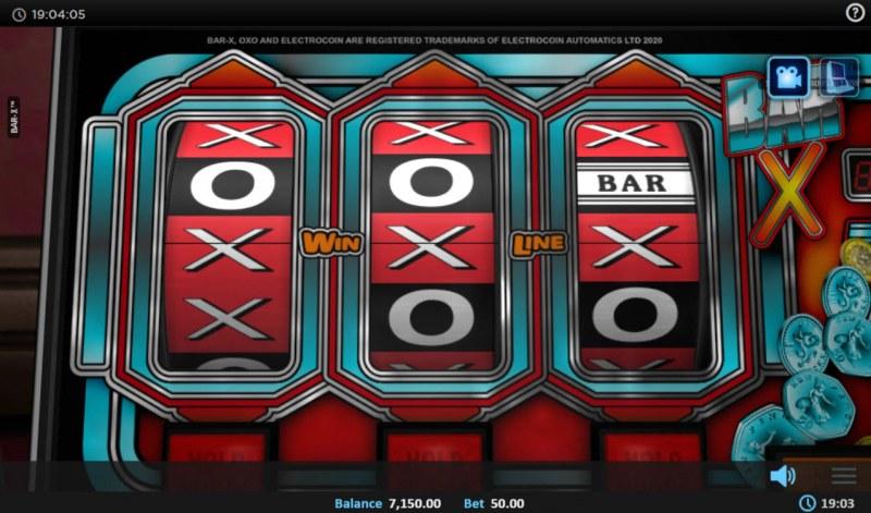BAR-X :: A three of a kind win