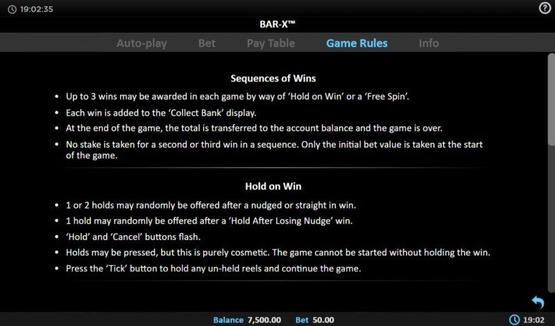 BAR-X :: Feature Rules