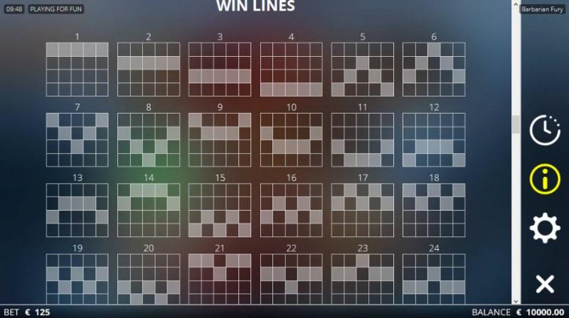 Barbarian Fury :: Win Lines