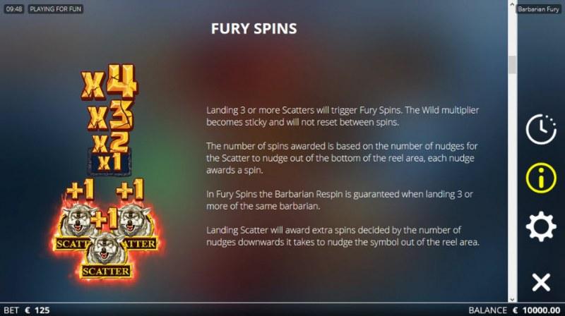 Barbarian Fury :: Fury Spins