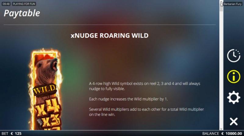 Barbarian Fury :: xNudge Roaring Wild