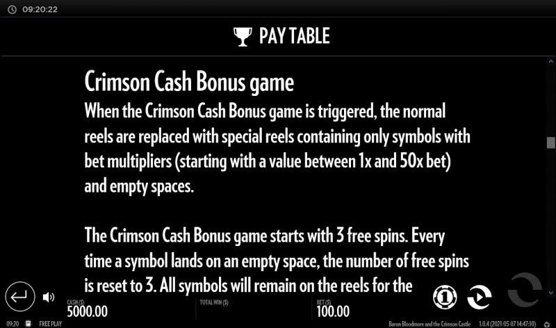 Baron Bloodmore and the Crimson Castle :: Bonus Feature