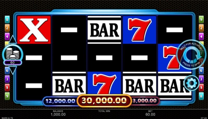 BARS & 7s :: Base Game Screen