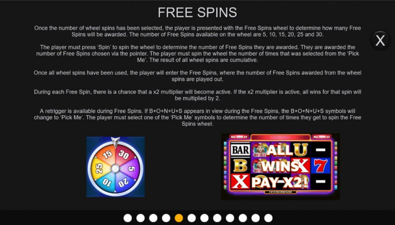 BARS & 7s :: Free Spin Feature Rules