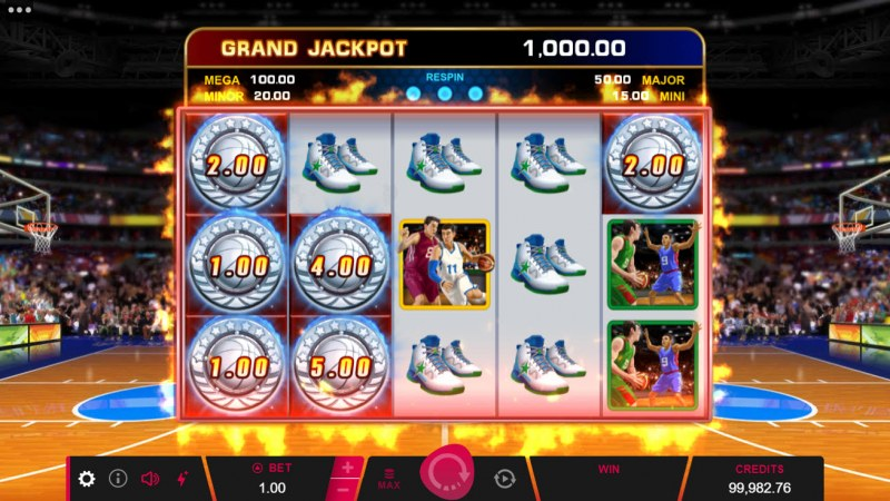 Basketball Star on Fire :: Scatter symbols triggers the free spins bonus feature