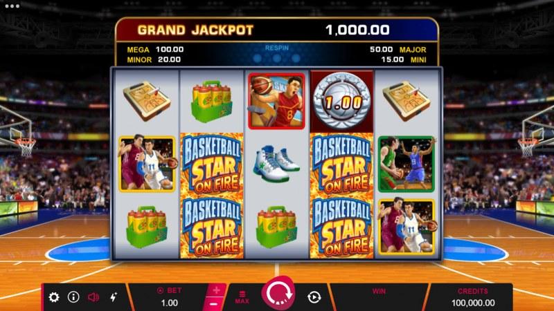 Basketball Star on Fire :: Main Game Board