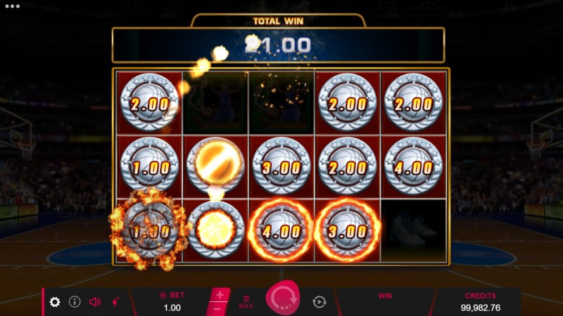 Basketball Star on Fire :: All coin symbols are collected at the end of the feature