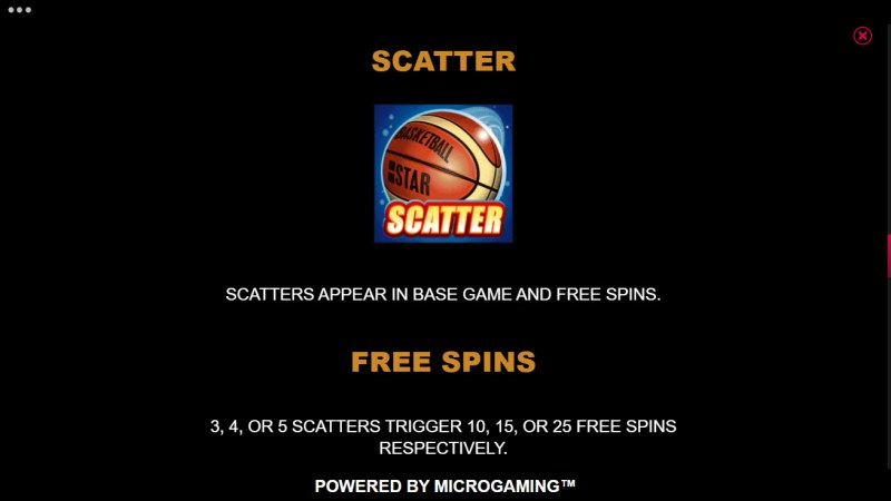 Basketball Star on Fire :: Scatter Symbol Rules