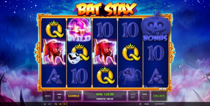 Bat Stax :: Multiple winning paylines