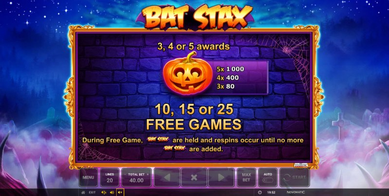 Bat Stax :: Scatter Symbol Rules