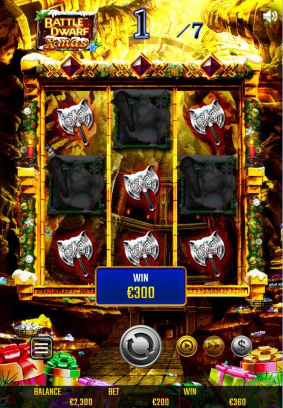 Battle Dwarf Xmas :: Free Spins Game Board