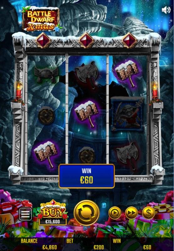 Battle Dwarf Xmas :: A three of a kind win