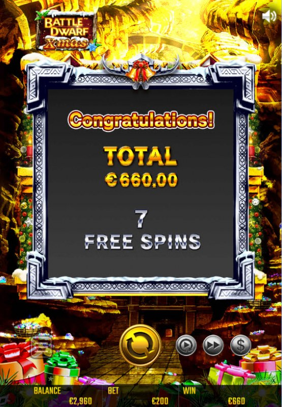 Battle Dwarf Xmas :: Total Free Spins Payout