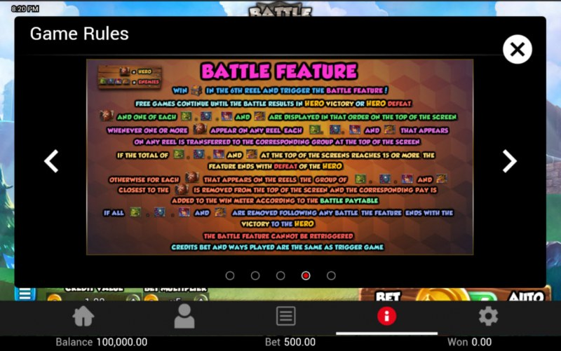 Battle Heroes :: Feature Rules