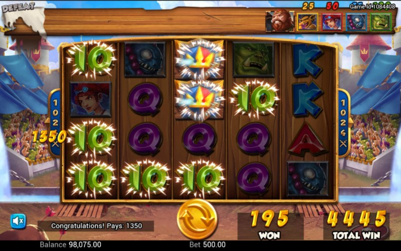 Battle Heroes :: Multiple winning combinations
