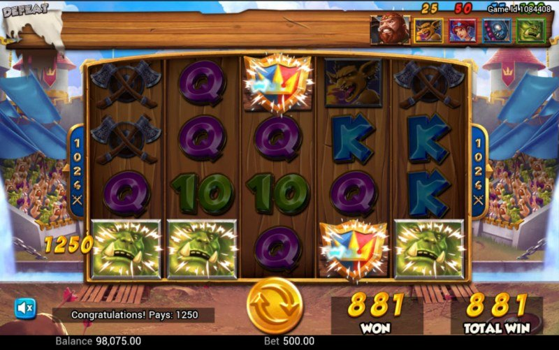 Battle Heroes :: Free Spins Game Board