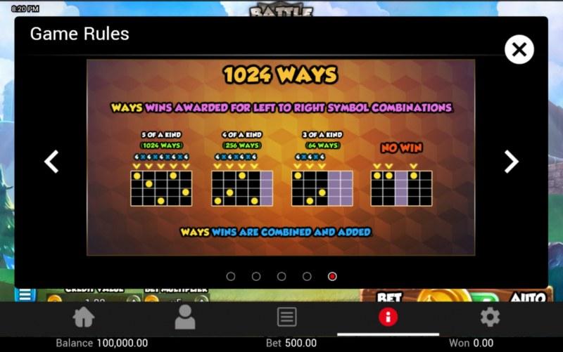 Battle Heroes :: 1024 Ways to Win