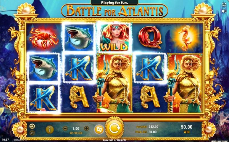 Battle of Atlantis :: Multiple winning paylines