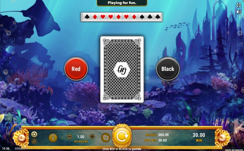 Battle of Atlantis :: Black or Red Gamble Feature
