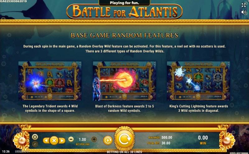 Battle of Atlantis :: Feature Rules