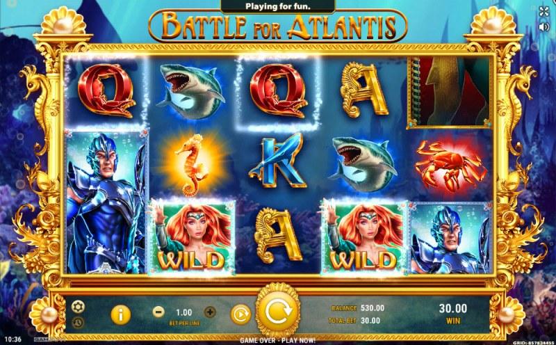 Battle of Atlantis :: Multiple winning combinations