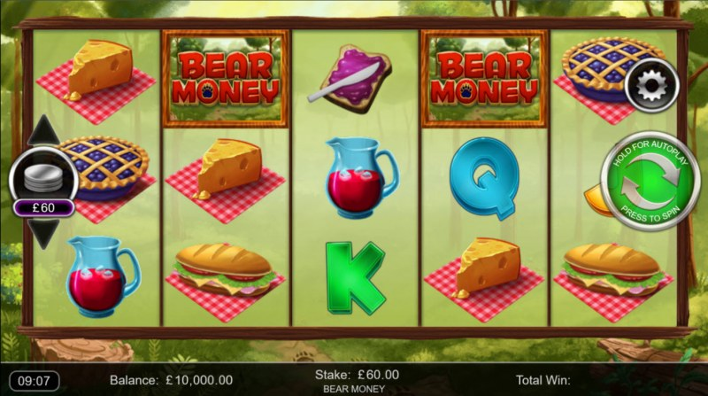 Bear Money :: Base Game Screen