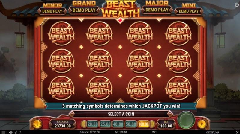 Beast of Wealth :: Progressive Jackpots Feature