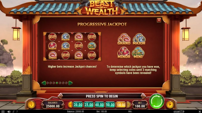 Beast of Wealth :: Progressive Jackpots
