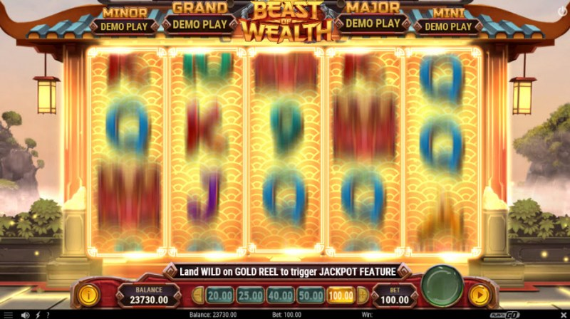 Beast of Wealth :: gold Reel feature randomly activates on any spin