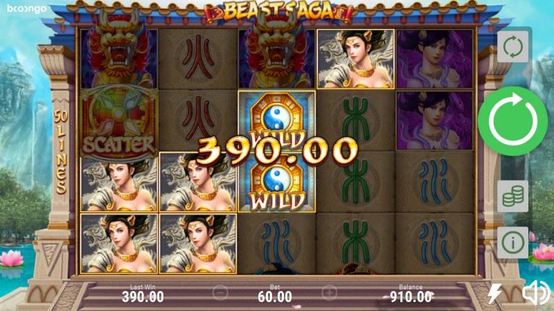 Beast Saga :: A four of a kind win