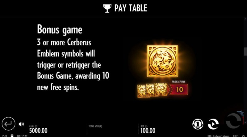Beat the Beast Cerberus' Inferno :: Free Spins Rules