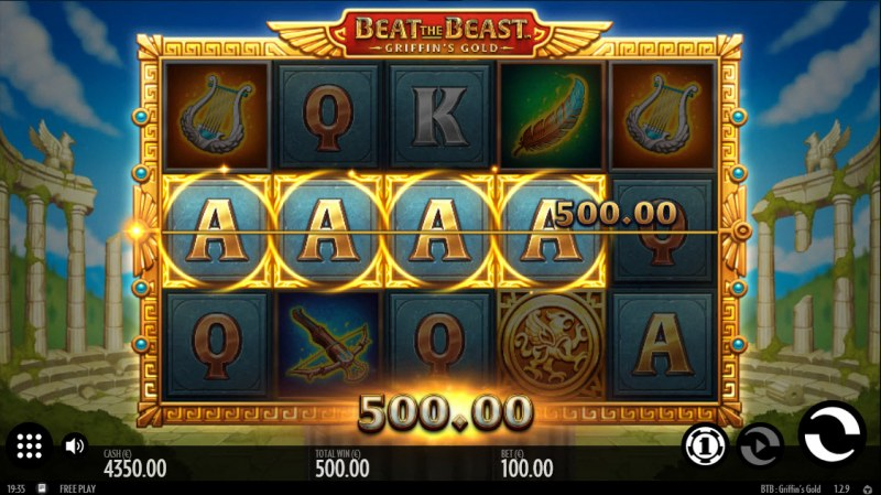 Beat the Beast Griffin's Gold :: A four of a kind win